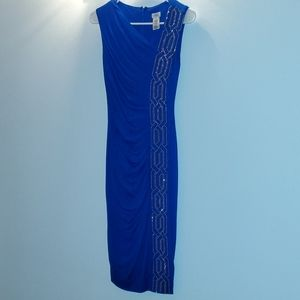 Cache royal blue dress with gold detail